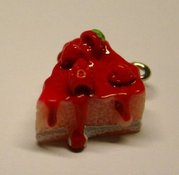 PINK CHEESECAKE FOOD CHARM 15MM X 10MM CHFD1044
